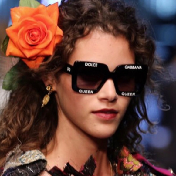 f144e40aca1 Dolce   Gabbana Accessories - Dolce   Gabbana Fall runway sunglasses